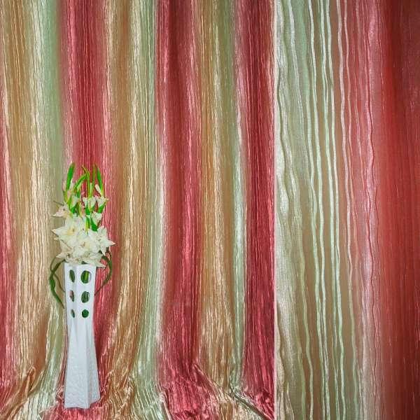 "атлас жатий салатово-персик. + Рожевий ""веселка"" ш.275"