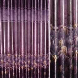 """блэкаут фиолетовый с бежево-золот. """"тюльпанами"""" ш.275"""