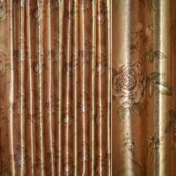 Блэкаут золото с св/корич.розами и букет.цвет ш.275