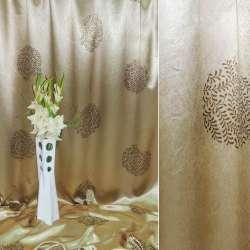 Блэкаут золотистый с желто-коричневым серпантин из веточек ш.2