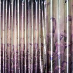блэкаут св/коричневый с фиолет. каллами ш.275