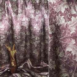Блэкаут бордовый с декор. тюльпанами ш.275