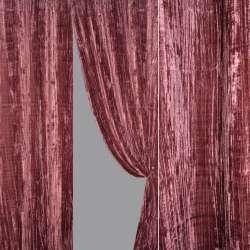 Ткань порт. велюр жатый фуксия ш.140