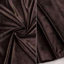 Велюр портьєрний коричневий темний ш.280