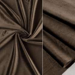 Велюр портьєрний коричнево-сірий ш.280