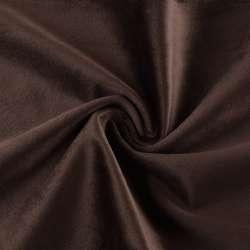 Велюр портьєрний коричнево-сірий матовий ш.280