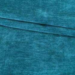 Велюр двухсторонний темный бирюзовый ш.280