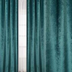 Велюр блэкаут шторный зеленый нефритовый, ш.280