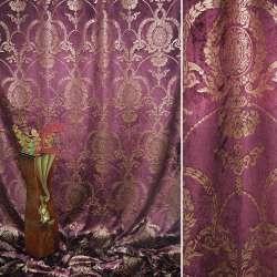 вельбоа порт. т/вишневый с золот.вензелями (штамп) ш.155