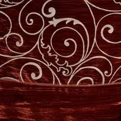 """Ткань порт. велюр жатый красный """"испан. двор."""" ш.270"""