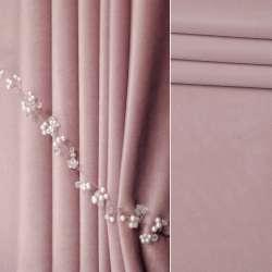 Велюр матовий для штор рожевий світлий, ш.280