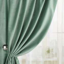 Велюр для штор зелено-серый светлый (каталог 75) ш.280