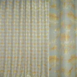 ткань порт.жакк.бледно-голубая с желт.цветами с отливо