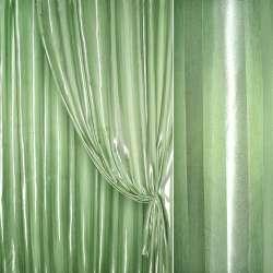 Атлас светло зеленый в жаккардовую полоску ш.280