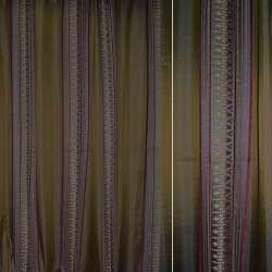 Жаккард гірчичний в смуги орнаменту ш, 270