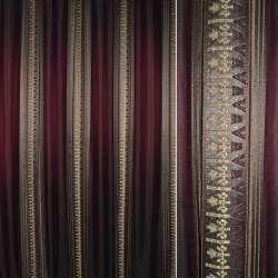 Жаккард бордовий в смуги орнаменту ш, 270