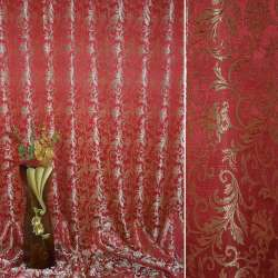 атлас жак. вензель-листя червоно-бежевий ш.280