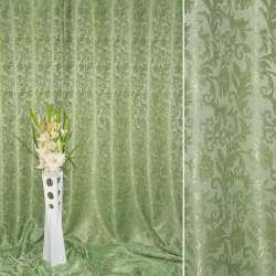 атлас жак. вензель-листя зелено-золотистий ш.280