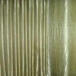 """атлас жак. оливково-сірий """"хвилі"""" ш.280"""