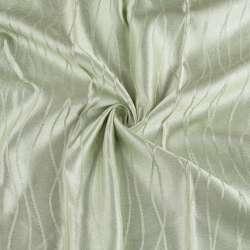 "атлас жак. 2-х стор. блідо-салатовий ""хвилі"" ш.275"
