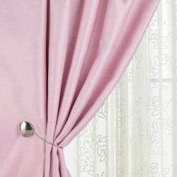 Жаккард для штор диагональный рельеф меланж розовый, ш.280