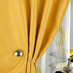 Жаккард для штор диагональный рельеф желтый, ш.280