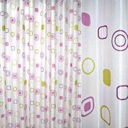 Атлас жак. порт. бледно-розовый с абстракцией ш.270