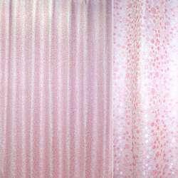 Жаккард с метанитью розовая в серебрянные пузырьки ш.275