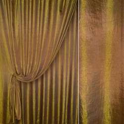 парча порт. коричнево-золот.однотон. жатая, ш.280