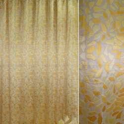 тканину порт.жакк. бежева з жовтими плямами, шір.295 см