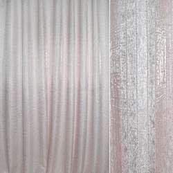 Жаккард двойной с органзой молочный с розовой нитью ш.280