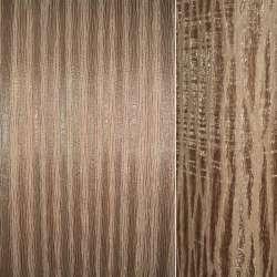 Органза портьерная бежево-рыжая на тканой основе с коричневыми провисами, ш.270