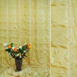 """Фукра портьерная бледно-желтая """"квадраты"""", ш.280"""