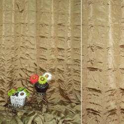 """Фукра портьерная коричнево-бежевая """"квадраты"""", ш.280"""