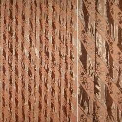 Фукріт порт. коричнево-беж діагональ з завитками, ш.280