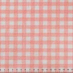 ткань  портьерная  розовая  в  клетку ш.150