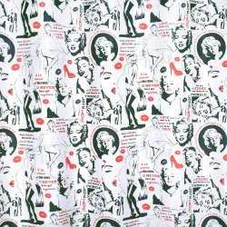 Креп портьерный белый, Мэрилин Монро, ш.280