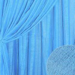 Лен портьерный синий светлый ш.280