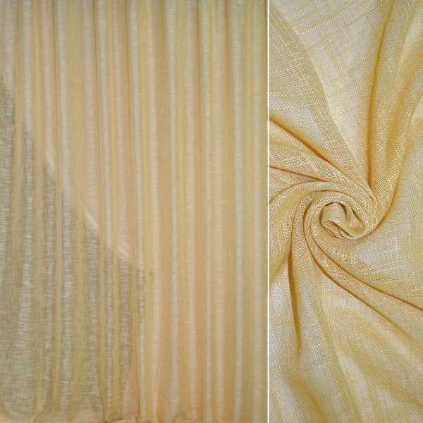 Лен портьерный желто-серый ш.280