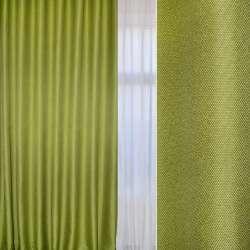 Блэкаут-рогожка зеленая (весенний) ш.280