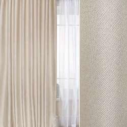 Блекаут лен рогожка  белый песок ш.280