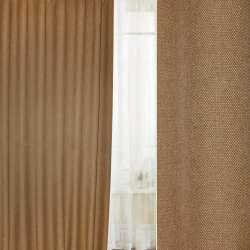 Блэкаут лен рогожка бежевая темная ш.280