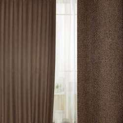 Блекаут льон рогожка коричнево гірчична темна ш.280