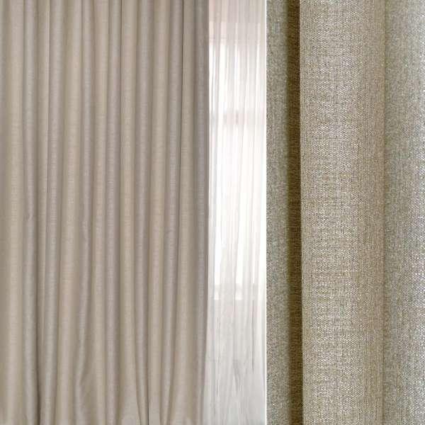 Блэкаут лен серый светлый с бежевым оттенком ш.280