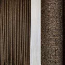 Блэкаут лен коричнево-шоколадный ш.280