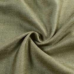 ткань порт. лен глад. темно-оливковый