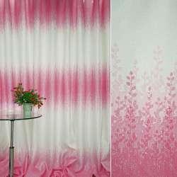 Льон порт. молочний з рожевим купоном гілочки ш.280