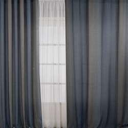 Льон для штор смуга бежева на сіро-синьому тлі, ш.308