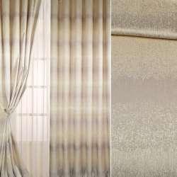 Жакард для штор бежево-сріблястий з перламутровим відливом, ш.300