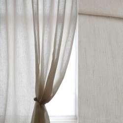 Рогожка для штор штрихи бежеві молочна, ш.300
